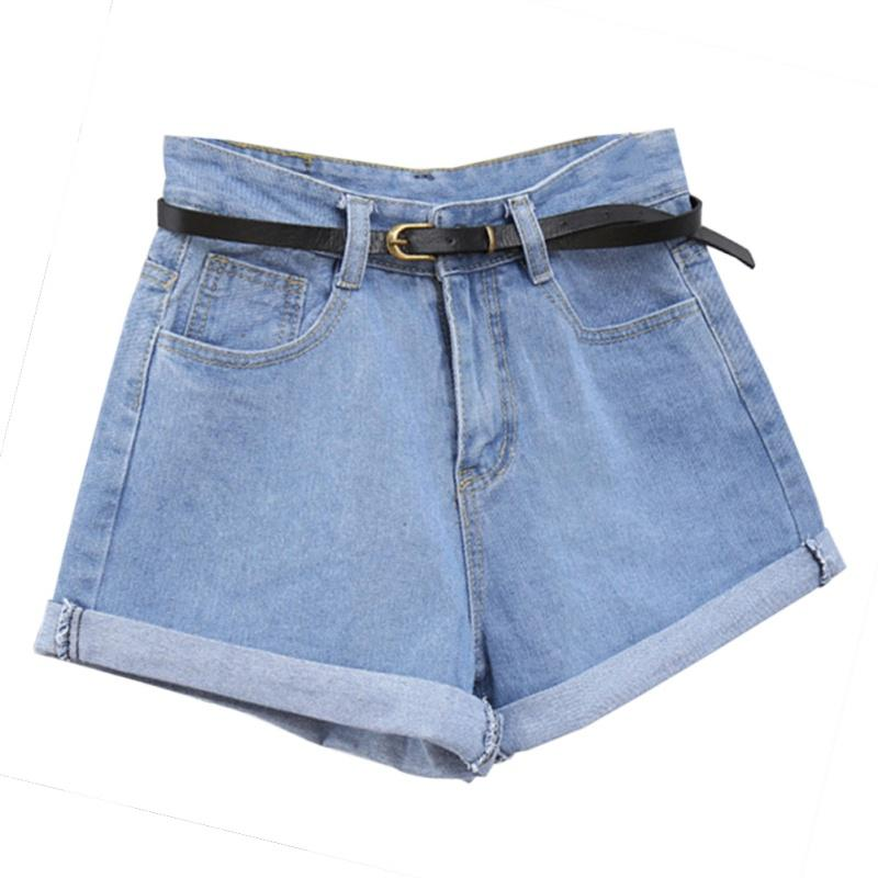 high waisted rolled shorts