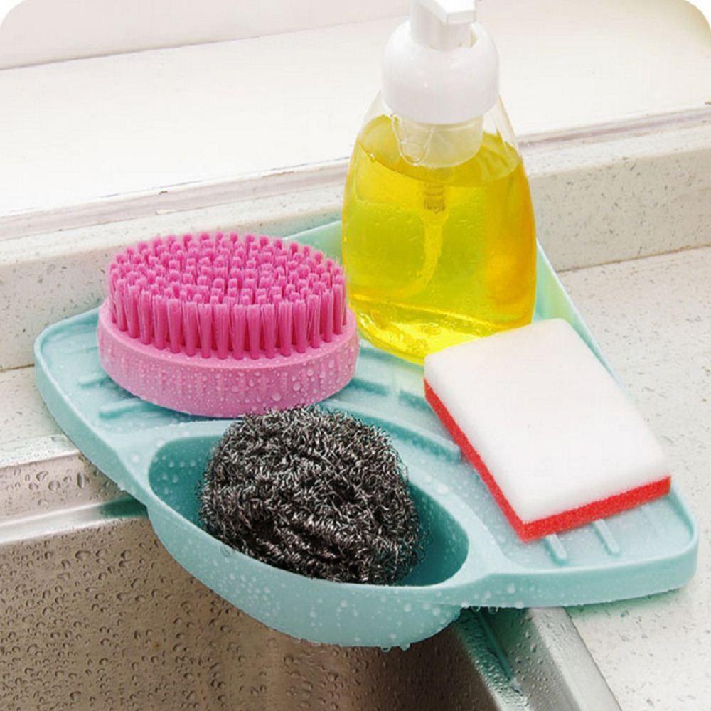 Évier de cuisine Support de rangement en éponge pour support de salle de bains