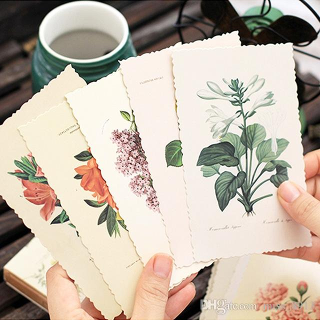 30 قطعة / المجموعة خمر مصنع بطاقة المعايدة بريدية بطاقات المعايدة عيد الميلاد بطاقة هدية بطاقات هدية عيد الحب