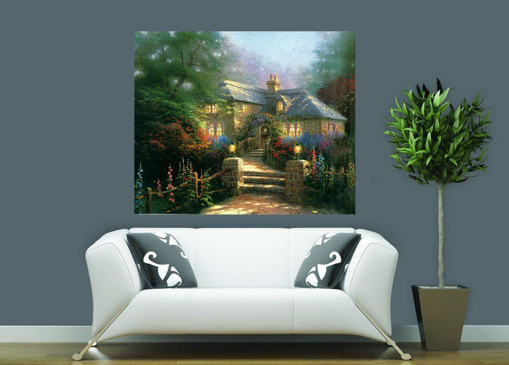 La escena del campo Thomas Kinkade Landscape Reproducción de pintura al óleo de alta calidad Impresión en lienzo Modern Home Home Decor TK0411