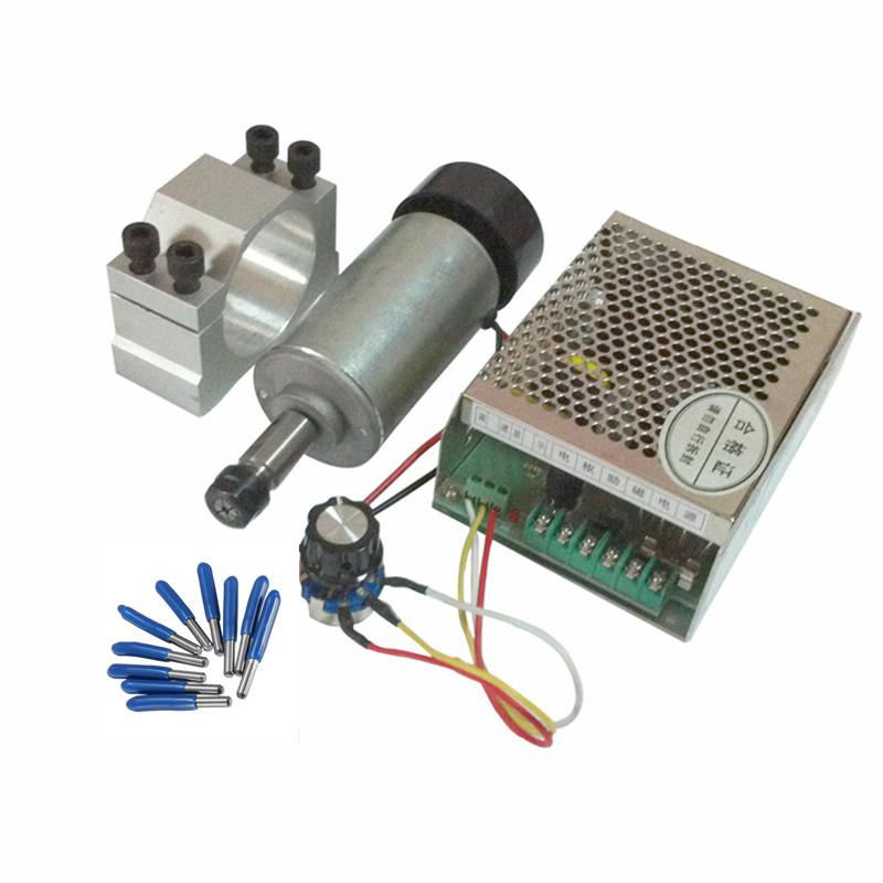 0.3KW CNC spindle motor 300W DC 12-48 52MM Clamp DIY PCB router milling machine parts