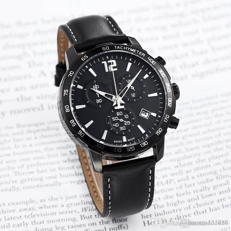 Todos os mostradores todos trabalham homens ou mulheres relógio de aço inoxidável cinto de quartzo marca de relógios de luxo casual watch1