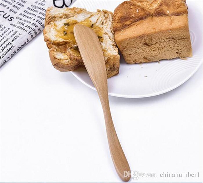 100 قطع إناء خشبي السكاكين زبدة سكين الجبن الحلوى المربى الموزعة الإفطار أداة النمط الياباني المائدة زبدة السكاكين الخشب c150