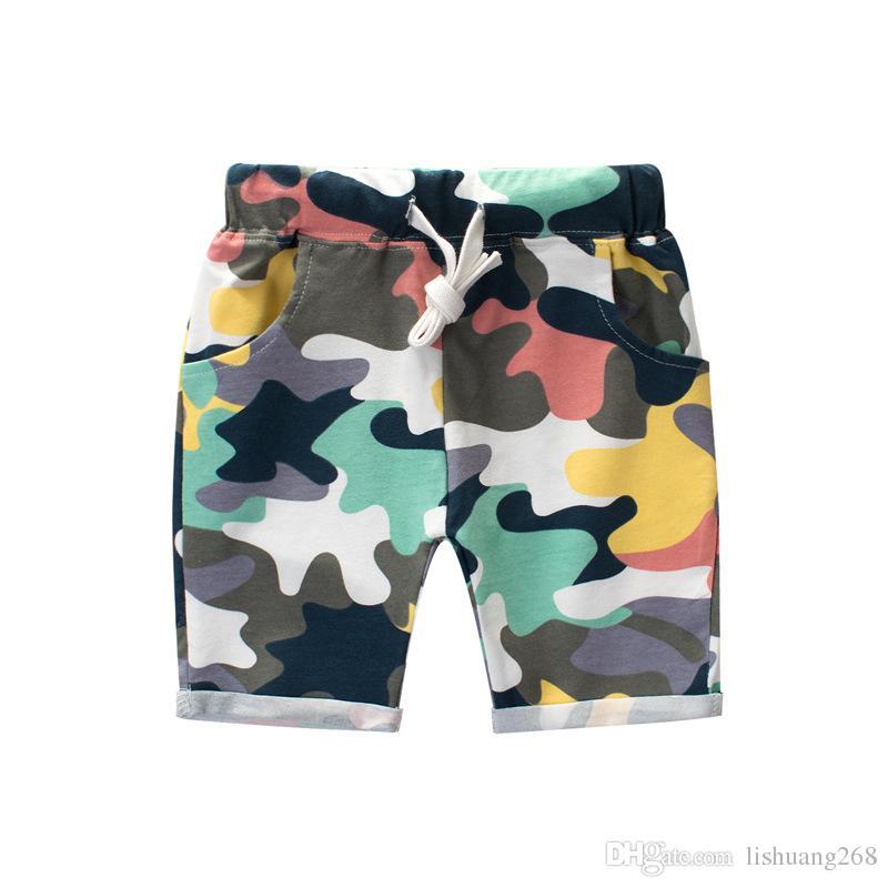 2018 Mode Baby Jungen Camouflage Shorts Sommer Baumwolle Hosen Kinder Armee Coole Hosen Kinder Lose Sport Camo Shorts Jogginghose Größe 1-9y
