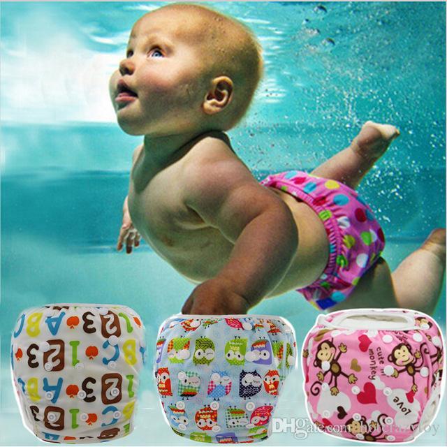Bir boyut bebek yüzme bezi su geçirmez ayarlanabilir bez bezi yüzme sandıklar yüzme bezireusable yıkanabilir bebek bezi