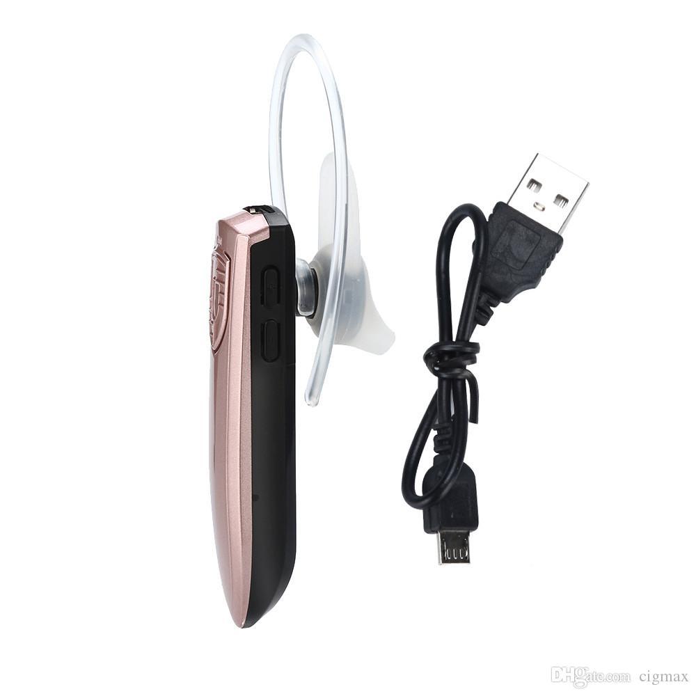 Bluetooth 4.1 Wireless Headset Auricular con el Mic para el iPhone Música Auricular estéreo bajo auriculares con sonido de ruido
