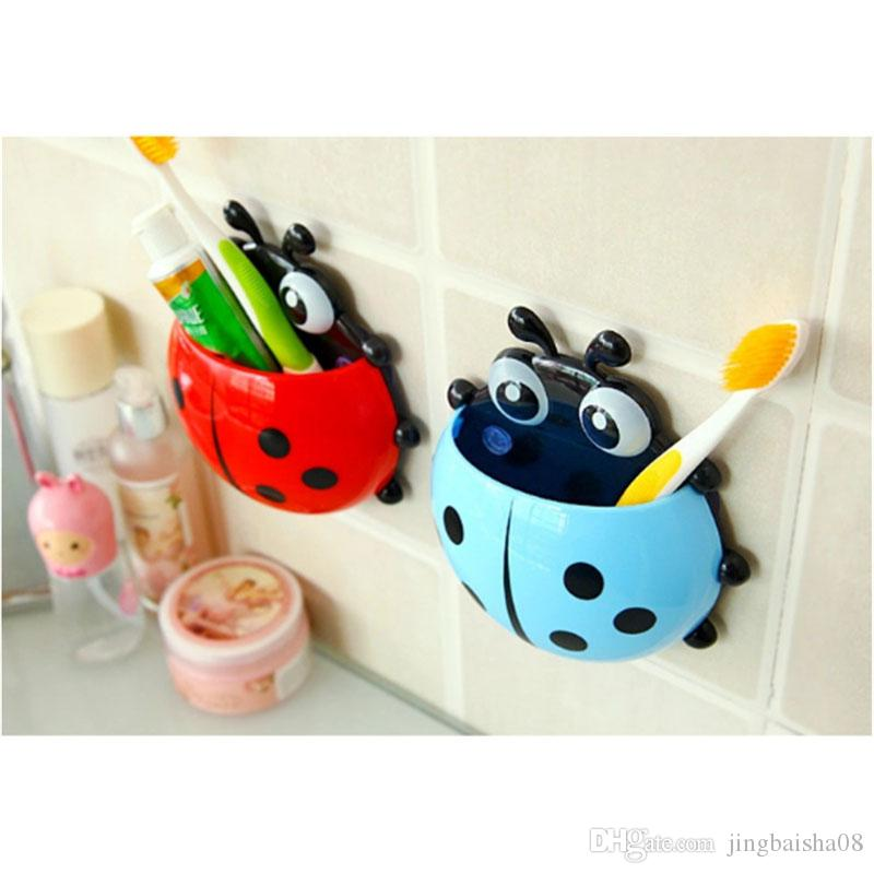 Ladybird Tooth Brush Holder Toothbrush Wall Holder Tooth Brush Cup Suction Cup Hot
