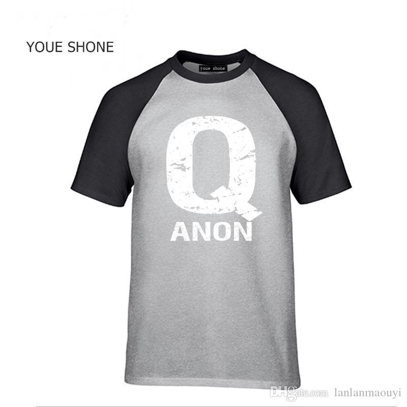 Algodão QAnon Liberdade Movimento T camisas dos homens Q Anon Coelho Branco T-shirt Carta impressa camiseta legal homem verão camisa camisetas pulôver
