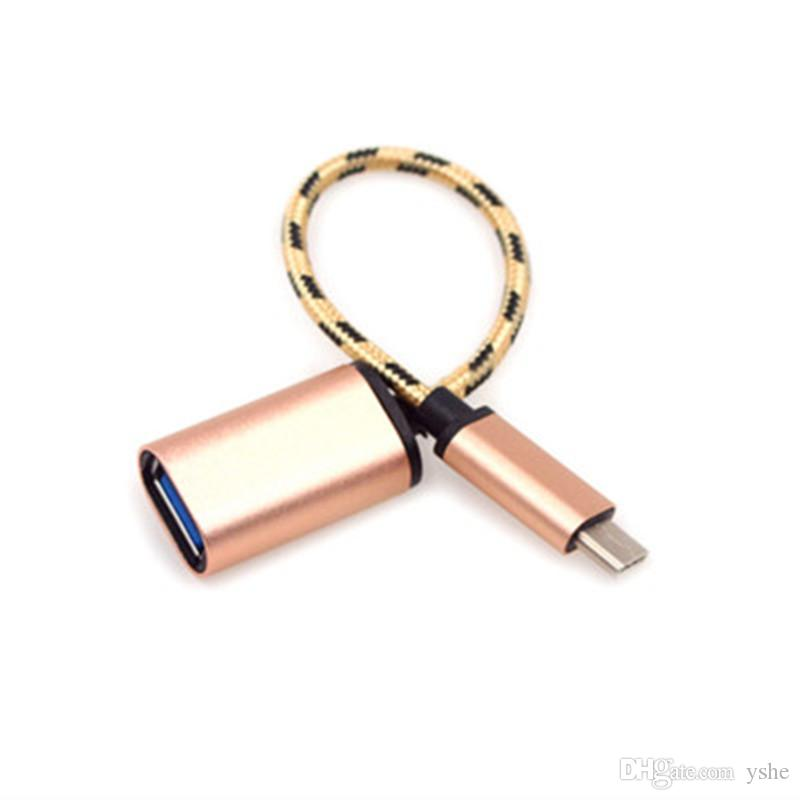 50PCS 새로운 메탈 USB 확장 케이블 USB C 3.1 유형 C 남성 USB 여성 OTG 데이터 동기화 변환기 어댑터 케이블