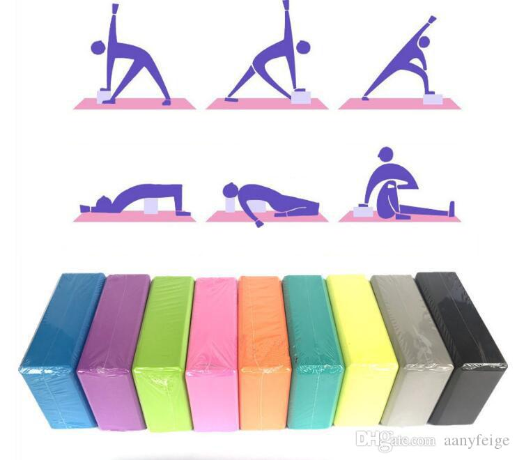 EVA Yoga Block Brick - Home Exercise Pilates Gym Foam Workout Sports Stretching Aid Body Shaping Health Training Fitness Equipment