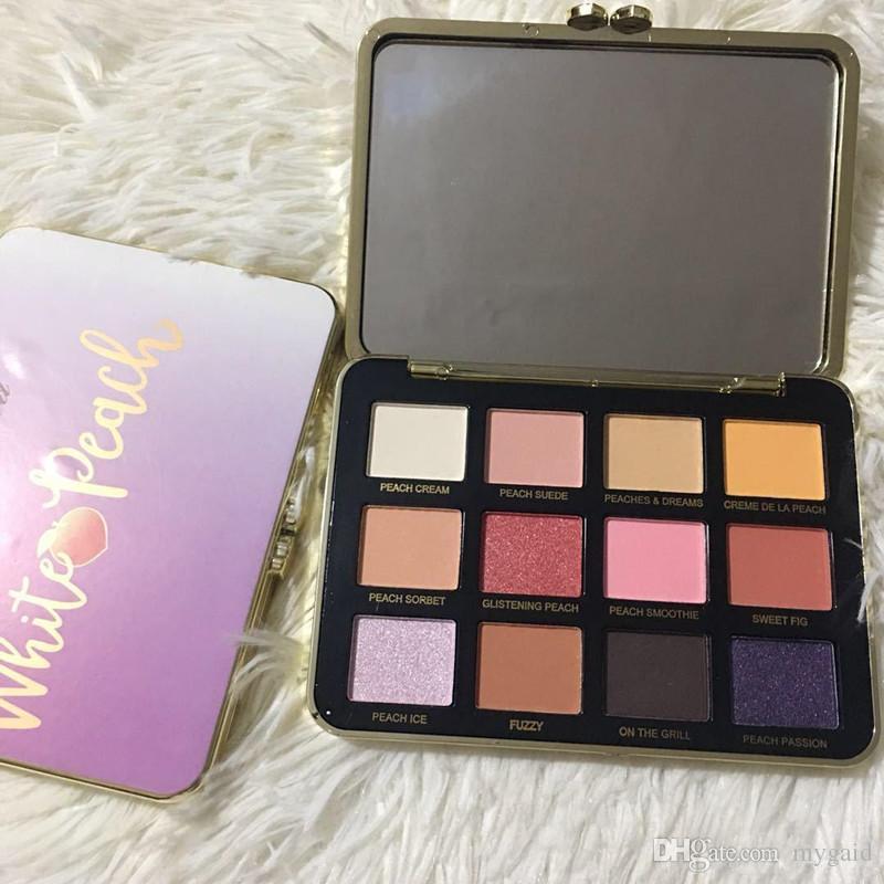 ¡Promoción! NUEVO maquillaje White-Peach Just Peachy 12 colores Paleta de sombras de ojos maquillage paleta de maquillaje ePacket Envío gratis + REGALO