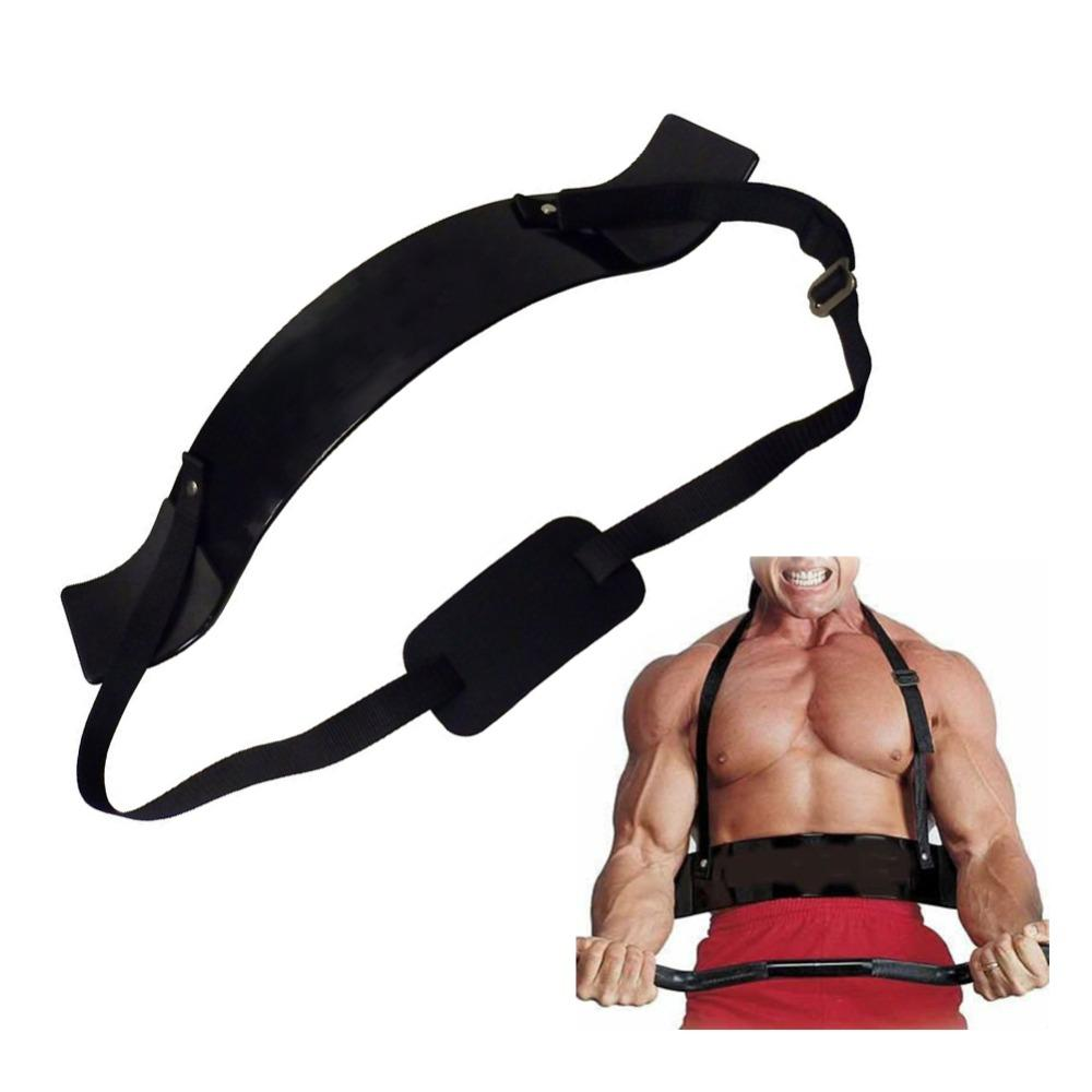 Fitness Arm Blaster Adjustable Aluminum Bodybuilding Bicep Curl Blaster Bomber Weight Lifting Training Straps Gym Equipment