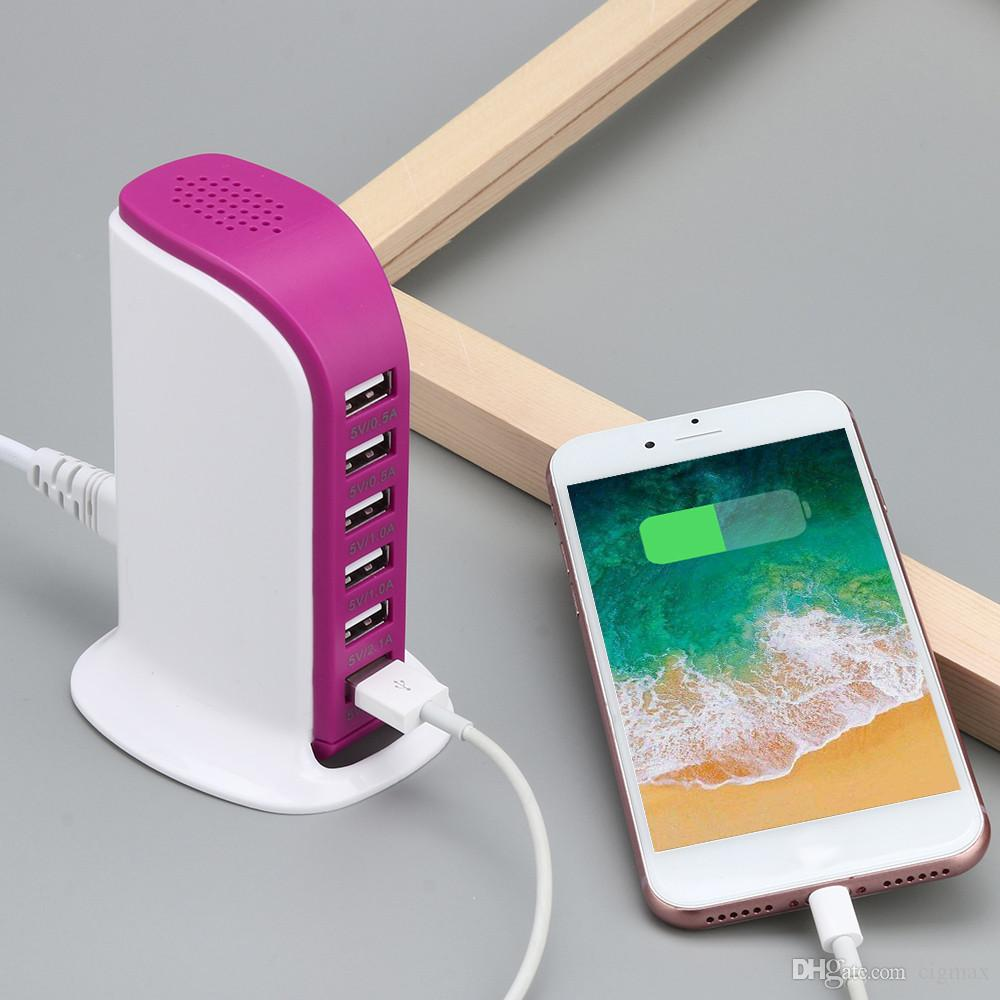 Multiple Intelligent USB Charger 6 Port Quick Charge Fast Charging Adapter