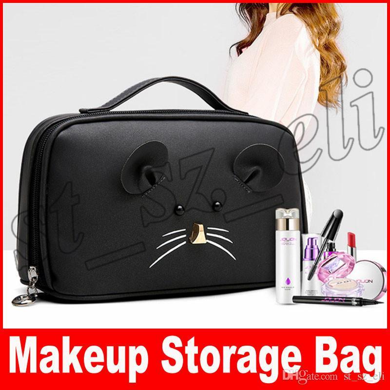 لطيف أزياء السيدات حقائب ماكياج شرابة التخزين انغلق المرأة حقائب التجميل الحالات حقائب متعددة الوظائف