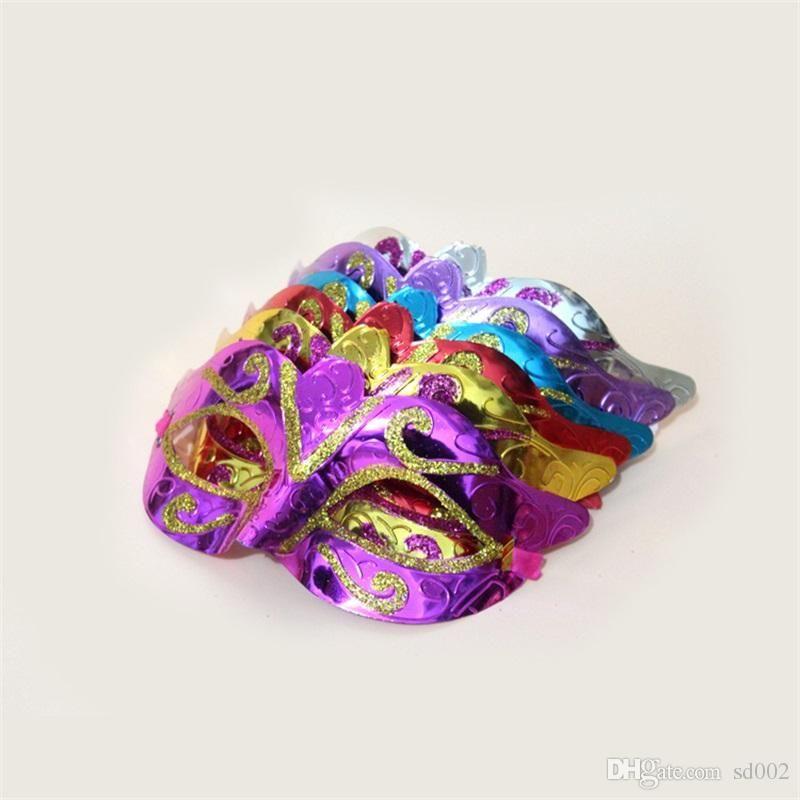Parti Maskesi Ile Erkekler Kadınlar Bling Altın Glitter Cadılar Bayramı Masquerade Kostüm Cosplay Mardi Gras Için Venedik Maskeleri 0 65 h ZZ