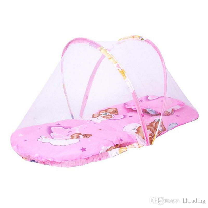 Portable Newborn Baby Bed cradle Crib Collapsible Mosquito Net Infant Cushion Mattress mobile bedding crib netting 92*48*40CM C3482