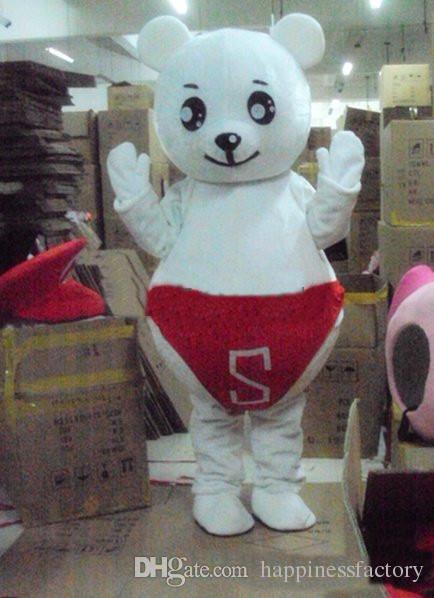 2018 Discount factory sale red jerey baby bear Cartoon Character Costume mascot Custom Products custom-made free shipping