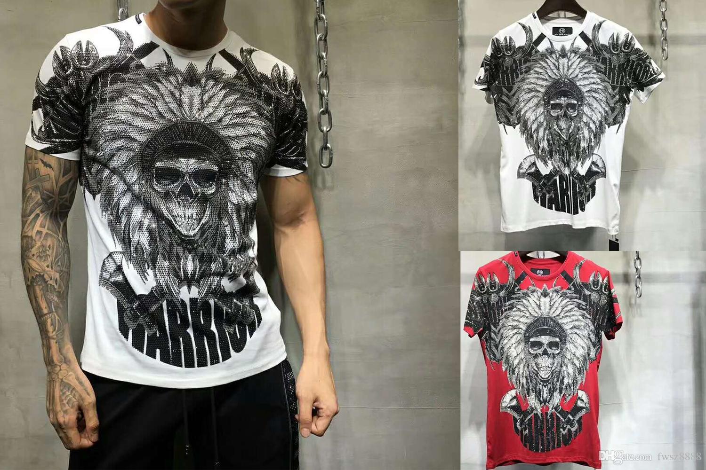 Nuova estate tshirt manica corta uomo marchio di abbigliamento stampato in cotone uomo t shirt di qualità supera tees maschio nero FWT802183