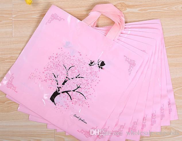 얇은 럭키 트리 부티크 의류 선물 가방 플라스틱 손 가방 47Cm * 40cm + 하단 10cm