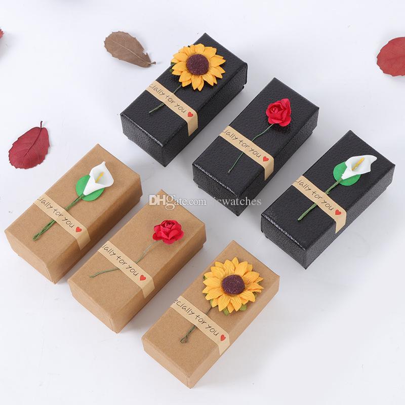 Black Brown Empty Kraft Paper Box for Lipstick Tubes Perfume Essential Oil Bottle Packaging Box