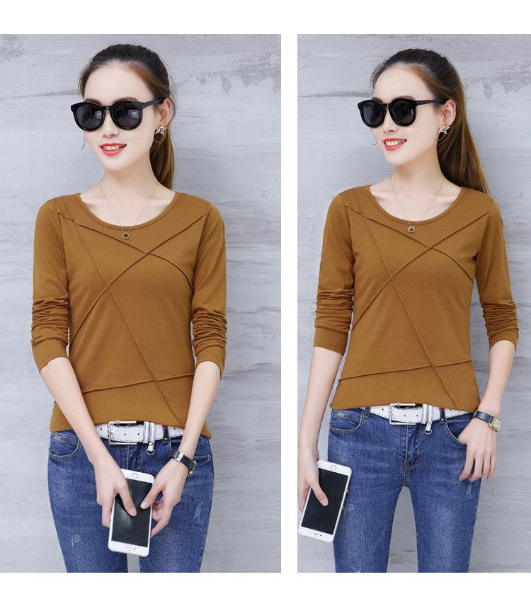 Plus Size Tshirt Women T-shirt Tee Tops Femme Autumn Long Sleeve T-shirts For Women 2019 Casual Cotton Tops Tees Camisetas Mujer (10)
