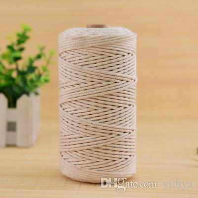Mestiere fatto a mano naturale del cotone della corda di Macrame del gancio del gancio della pianta della corda di alta qualità del bozzolo della Boemia attorcigliato attorcigliato l'attrezzo del mestiere della corda