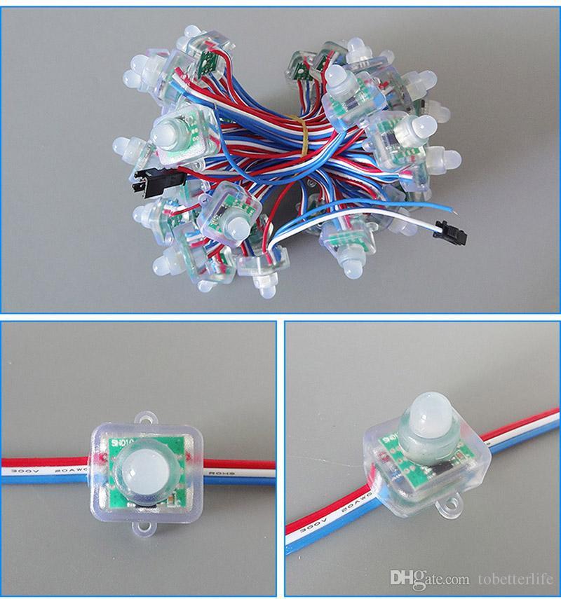 12mm square led pixel light Full Color RGB LED Pixel module Light With IC WS2811 UCS1903 SM16703 DC5V DC12V For Advertisement