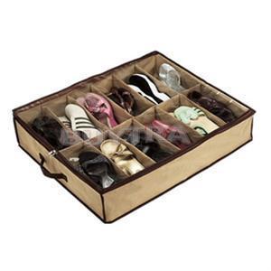 새로운 고품질 12 격자 구두 상자 접히는 투명한 조직자 홀더 짠것이 아닌 직물 가정 용품 브래지어 저장