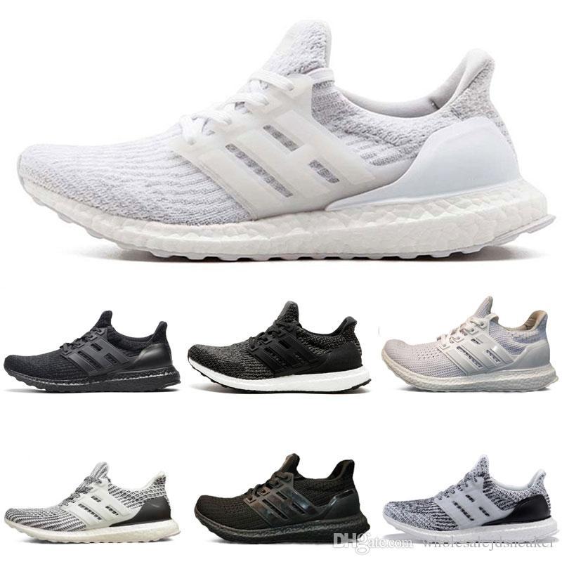2018 nouveau 3.0 Triple Noir Chaussures De Course hypebeast primeknit blanc noir CNY sneaker chaussures Sport Chaussures De Course