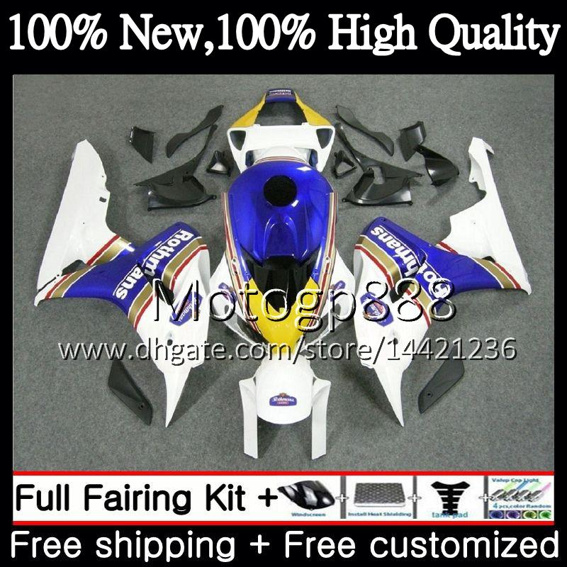 OEM Injection For HONDA Rothmans Blue CBR1000 RR CBR 1000RR 06 07 Kit 52PG CBR 1000 RR 2006 2007 CBR1000RR 06 07 100%Fit Fairing Bodywork