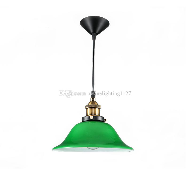 Nordic Vintage Pendant Lights Usa Bar Cafe Retro Emerald Glass Hanging Lamps Minimalist Restaurant Droplight Fixture E27 Suspension Lighting Light