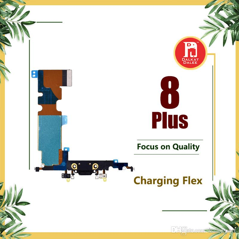 For iPhone 8 Plus Charging Port Flex Charger Data USB Dock Connector with Headphone Audio Jack Mic Antenna Antena wifi Cable For iphone8