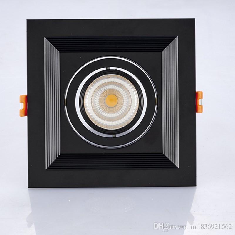 2018 площади потолка Dimmable Сид Downlight 10Вт 20Вт 30Вт вращая ac110v 220 В светодиодный потолочный светильник поверхностного монтажа внутреннего освещения