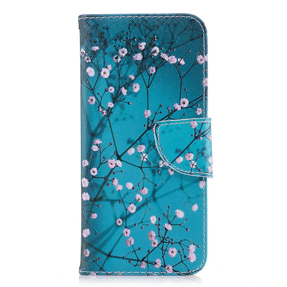 Plum Blossom Mobile Phone Case Cover Stand TPU PU Leather Wallet Card Money Holder 165 Models for Option