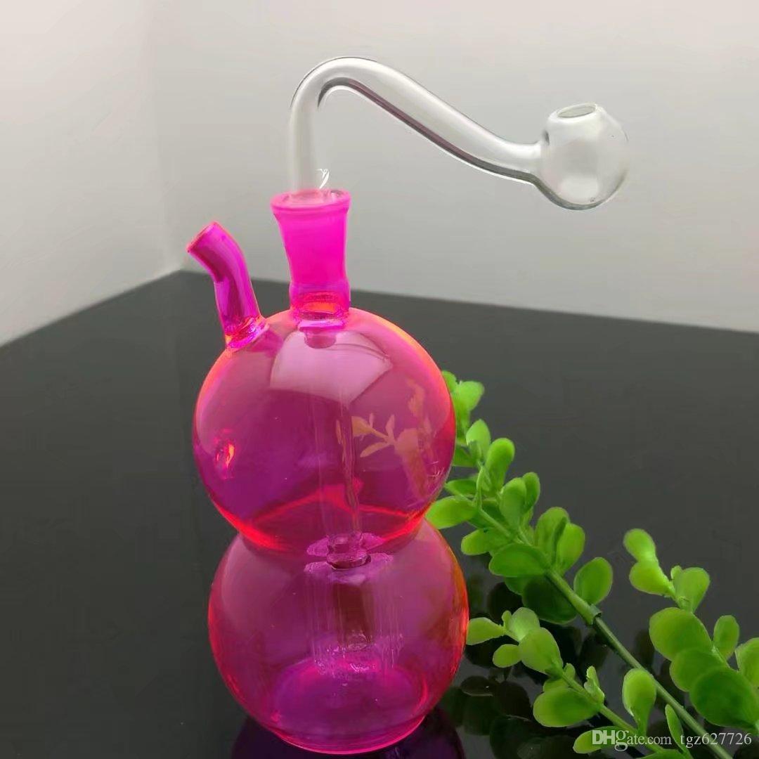 Bouteille en verre colorée de palans en verre Bangs en verre Brûleurs à mazout en verre