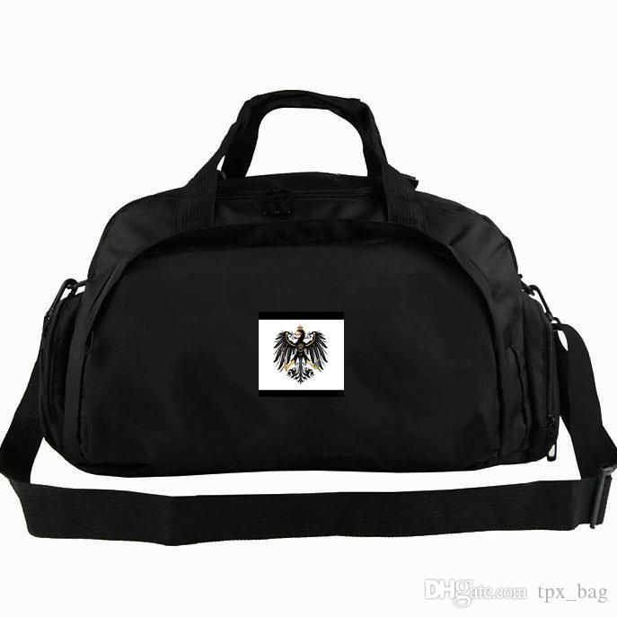 Prussia duffel bag Prusa flag tote Great country 2 way use backpack Banner luggage Trip shoulder duffle Sport sling pack