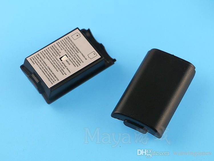 배터리 케이스 커버 셸 주택 X 박스 360에 대 한 Xbox360 무선 컨트롤러 충전식 교체 블랙 화이트 레드 핑크 100pcs / lot