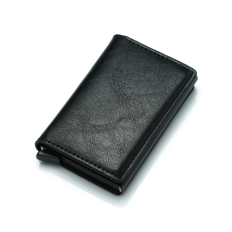 c1379327d7d71 DIENQI Top Qualität Brieftasche Männer Geld Tasche Mini Geldbörse  Männlichen Vintage Automatische Aluminium Rfid Kartenhalter Brieftasche  Kleine Smart ...