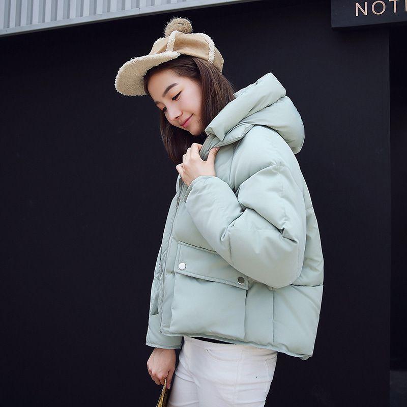 Großhandel 2019 Neue Kurze Winterjacke Frauen Mit Kapuze Warme Jacken Mantel Weibliche Fledermaus Ärmel Dicke Outwear Wintermantel Frauen Damen Parkas