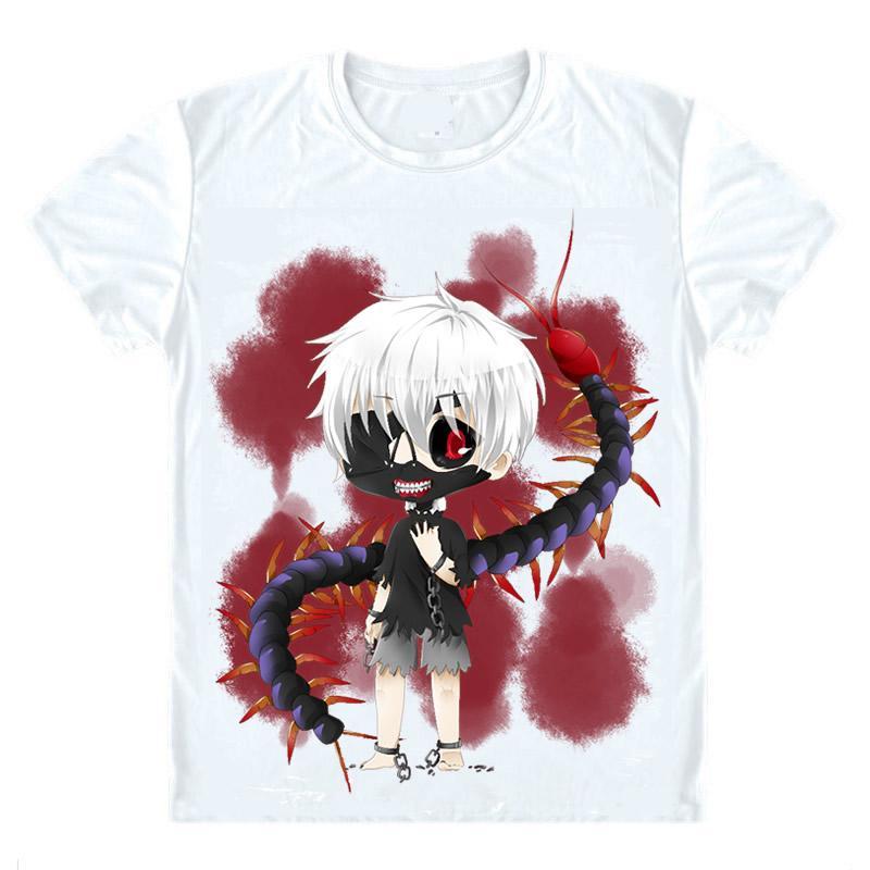 Tokyo вурдалак Футболки Короткие футболки Anime Кен Kaneki Хайз Sasaki Eyepatch Сороконожка Черный Жнец Одноглазый король Shirt Tee-Style335-NO03