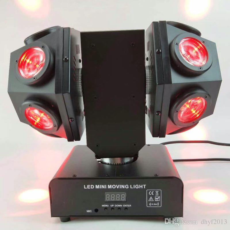 Mini Çift Silah LED Hareketli Kafa Lazer Işık 12x10w 4in1 RGBW DMX 512 Kontrolü