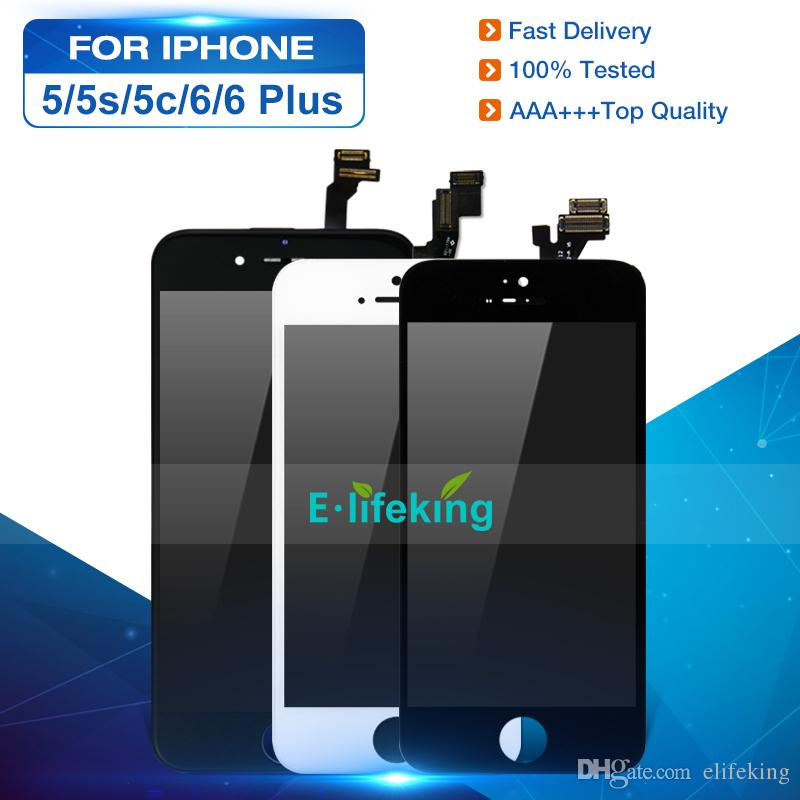 Display LCD per iPhone 5 5S 5C 6 6 Plus Touch Screen Digitizer Assembly Pannello touch LCD di ricambio 100% testato