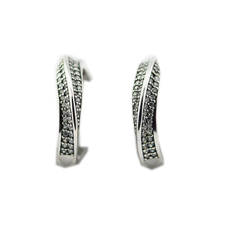 2018 NUOVA primavera autentici orecchini in argento sterling 925 eleganti orecchini a cerchio stile europeo per le donne Charms moda
