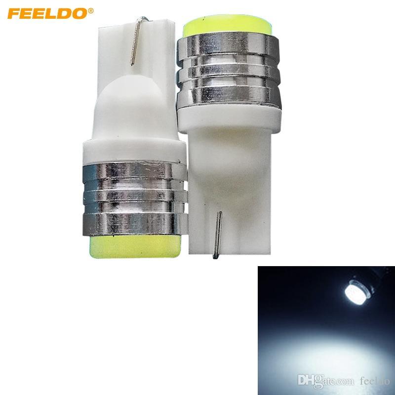 FEELDO 50 ADET Beyaz Araba T10 194 168 İç 2 W Seramik LED Ampul Işık Okuma Işığı Lambası Ampul Styling Lambası DC12V # 4665