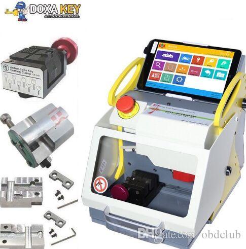 DHL free shiping CNC Laser Car Key Cutting Machine SEC-E9 key cutting machine cut house keys and car keys including six clamps