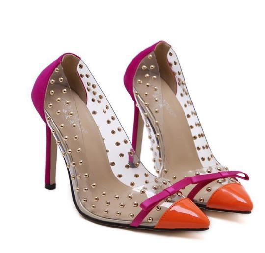 High Heels Rivets Studded Shoes