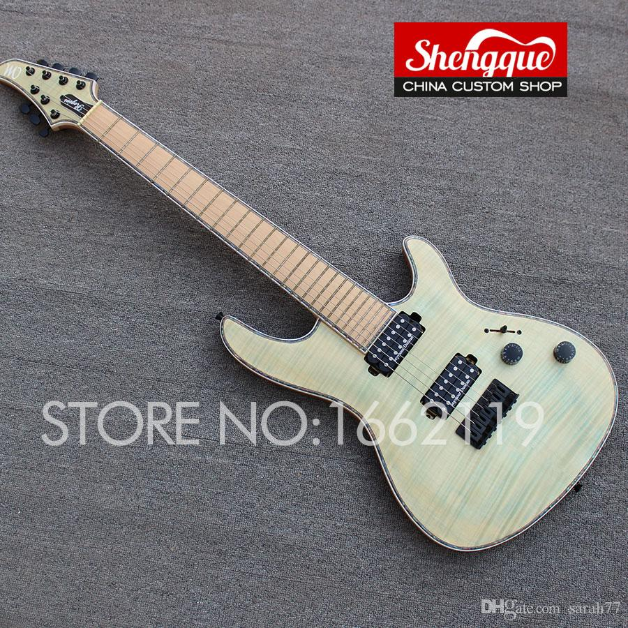 Factory custom MAYONES guitar flamed maple top 7 strings guitar with maple fingerboard electric guitars musical instrument Shop