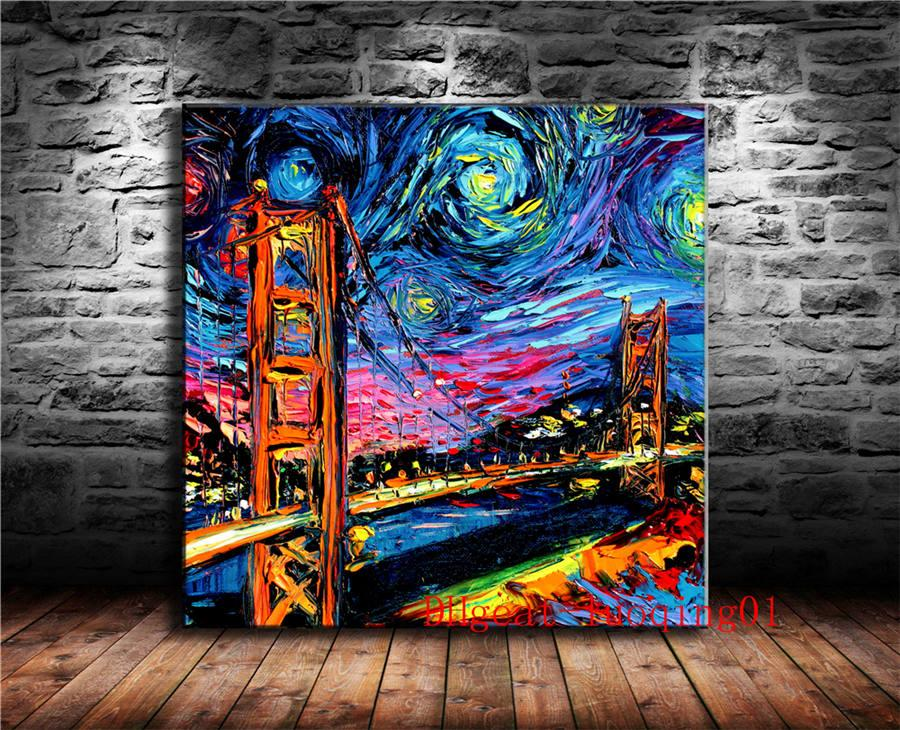 2019 Golden Gate Bridge Painting Canvas Pieces Home Decor Hd Printed Modern Art Painting On Canvas Unframed Framed From Luoqing01 5 98