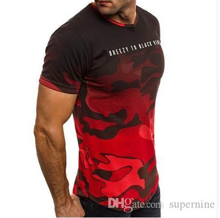 Maschio T Slim Fit Nuovo arrivo BlackFitness Mens cotone manica corta T-shirt Estate T casuale maglietta Uomini W