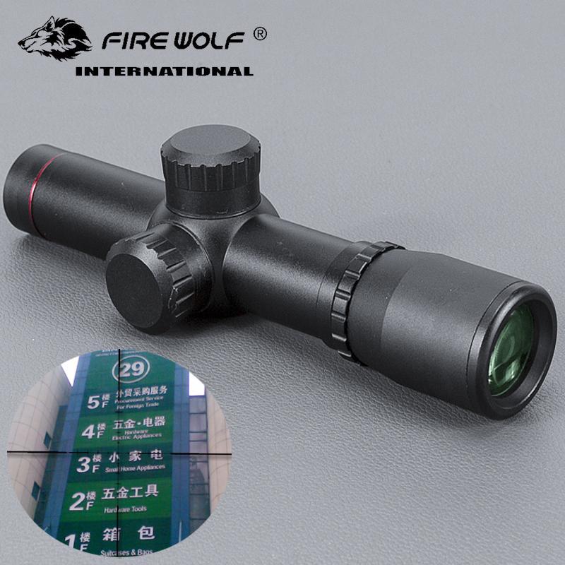 FIRE WOLF 4.5x20 Компактный прицел для охоты Тактический оптический прицел Прицел P4 с откидной крышкой объектива и кольца